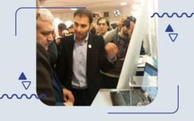 بازدید دکتر ستاری معاونت علم و فناوری از سامانه همیاب ۲۴ در نمایشگاه الکامپ۹۵