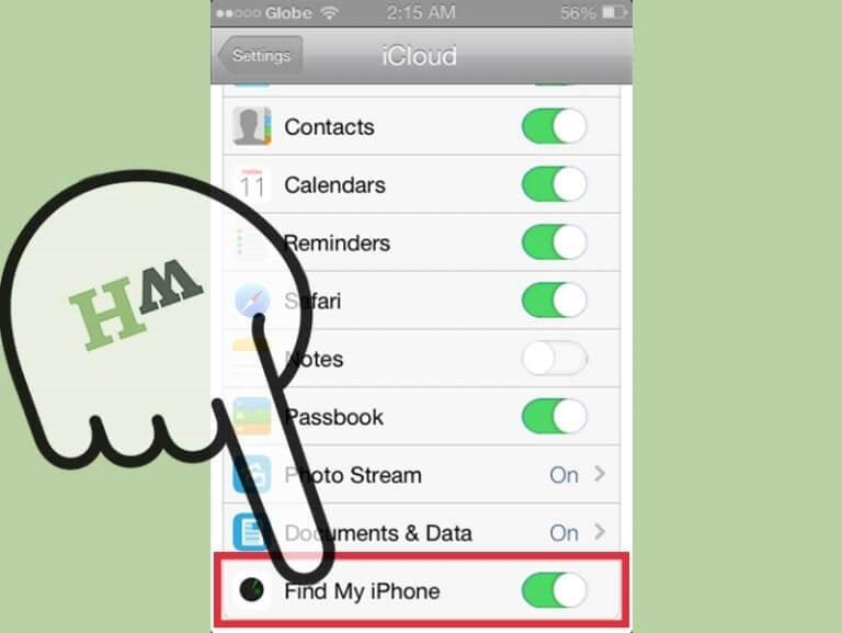 فعالسازی Find My iPhone در آیفون - ردیابی گوشی ایفون