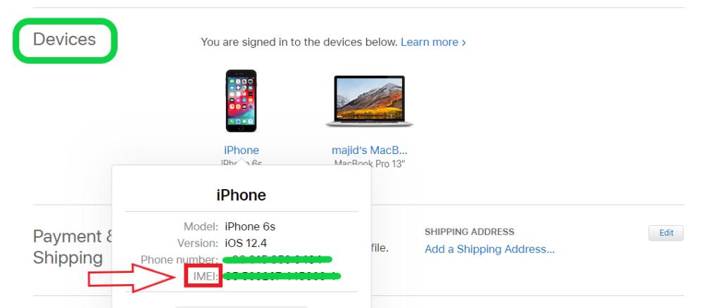 پیدا کردن شماره IMEI گوشی آیفون از طریق اپل آی دی