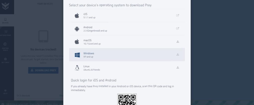 نسخه های مختلف نرم افزار Prey