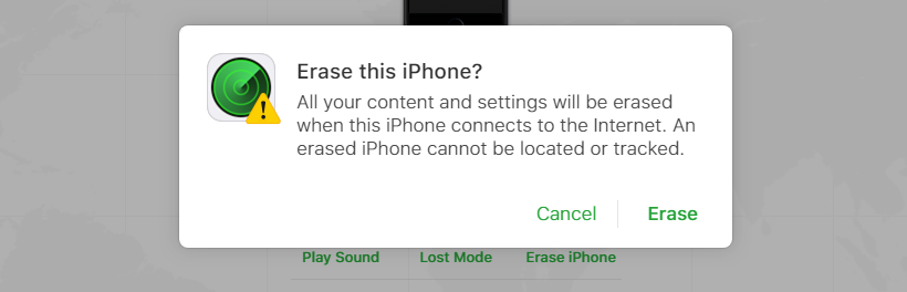 erase iphone
