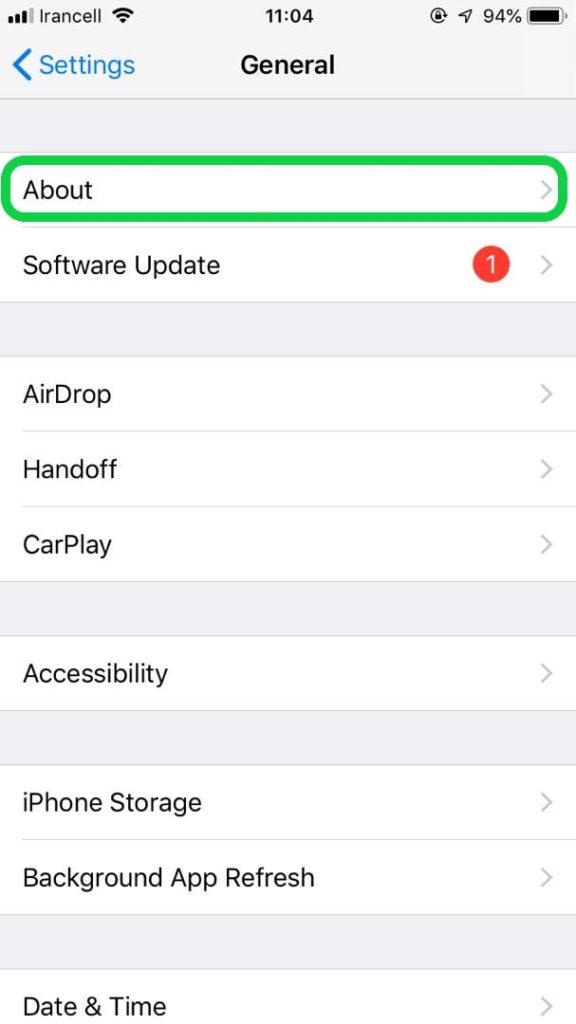 آموزش پیدا کردن آدرس IP و آدرس MAC در iPhone and iPad