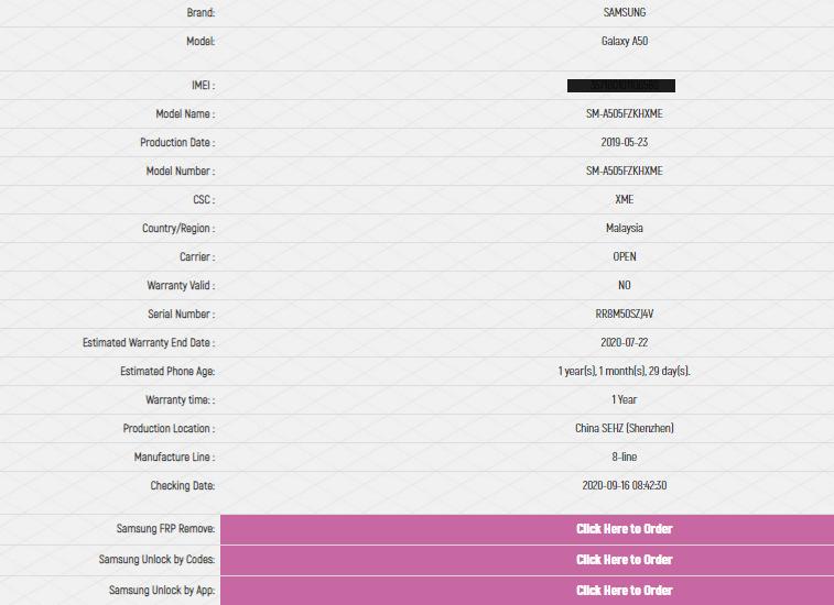 پیدا کردن کشور سازنده گوشی از طریق شماره IMEI در سایت imei.info