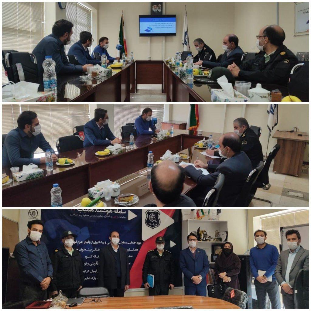 بازدید نیروی انتظامی و فرمانداری شهرستان نیشابور از سامانه کشوری همیاب ۲۴ به مناسبت هفته پژوهش