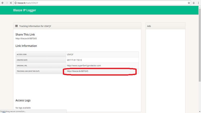 ردیابی از طریق سایت blasze