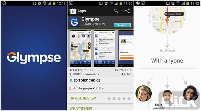 آموزش ردیابی مکانی از طریق نرم افزار Glympse