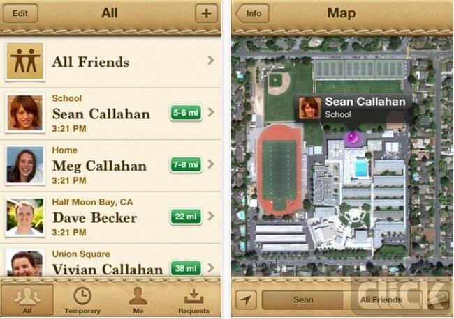 ردیابی موقعیت مکانی اعضای خانواده روی نقشهFind My Friends