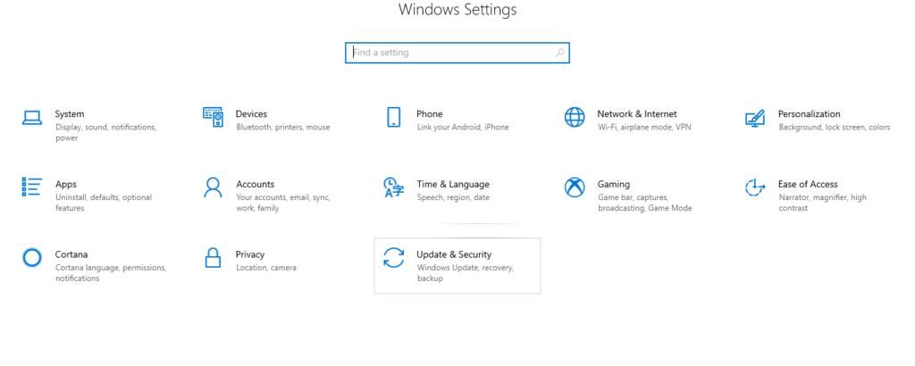 تنظیمات find my device در ویندوز ده