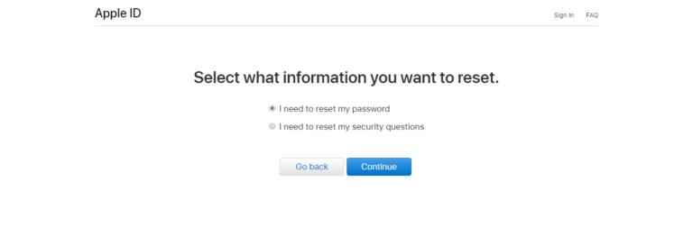 بازیابی گذرواژه و یا سوالات امنیتی اپل ای دی apple ID