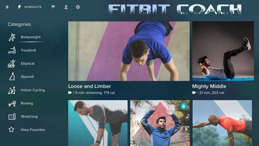 برنامه تمرین در خانه : Fitbit Coach